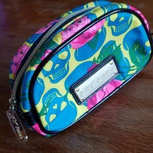 Betsey Johnson Skulls Cosmetic Bag